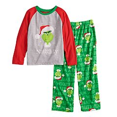 Boys 4-12 Jammies For Your Families How the Grinch Stole Christmas Grinch 'Naughty' Top & Microfleece Bottoms Pajama Set