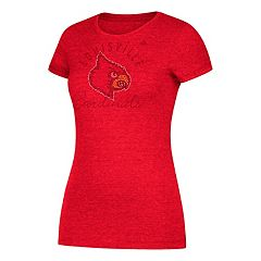 Women's adidas Louisville Cardinals Subtle Shine Tee