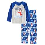 "Boys 4-12 Jammies For Your Families Frosty the Snowman ""Feeling a Little Frosty"" Top & Microfleece Bottoms Pajama Set"