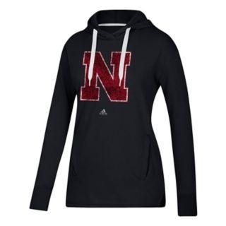 Women's adidas Nebraska Cornhuskers Fleece Pull-Over Hoodie