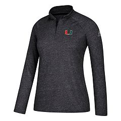 Women's adidas Miami Hurricanes Ultimate Quarter-Zip Tee
