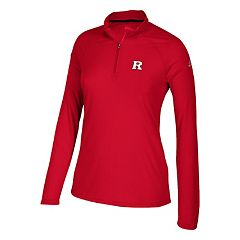 Women's adidas Rutgers Scarlet Knights Ultimate Quarter-Zip Tee