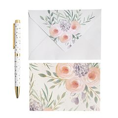 Laura Ashley Lifestyles Blank Note Card & Pen 41-piece Set