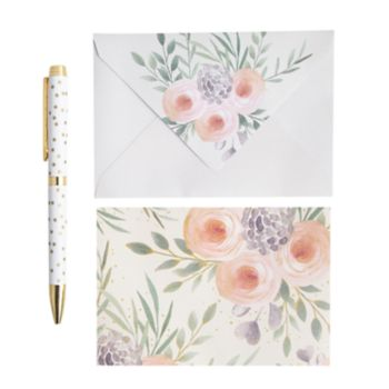 Laura Ashley Lifestyles Blank Note Card & Pen 41-piece Set
