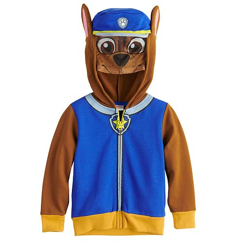 Toddler Boy Paw Patrol Chase Costume Mask Zip Hoodie