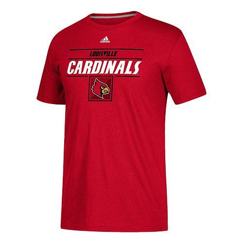 Men's adidas Louisville Cardinals Award Go-To Performance Tee