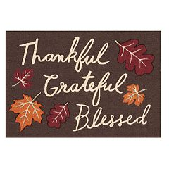 Celebrate Fall Together ''Thankful Grateful Blessed'' Rug - 20'' x 30''