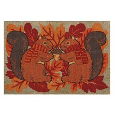 Celebrate Fall Together Squirrels Rug - 20'' x 30''