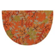 Celebrate Fall Together Leaf Slice Rug - 20'' x 30''