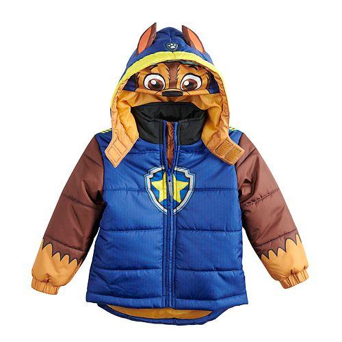 Toddler Boy Paw Patrol Chase Heavyweight Hooded Jacket