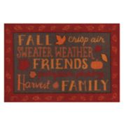 Celebrate Fall Together Fall Words Rug - 20'' x 30''