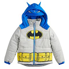 Toddler Boy DC Comics Batman Mask Hood Heavyweight Hooded Jacket