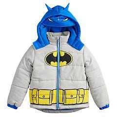 Toddler Boy DC Comics Batman Mask Hood Heavyweight Hooded Jacket