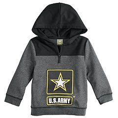 Toddler Boy U.S. Army Quarter Zip Pullover Hoodie
