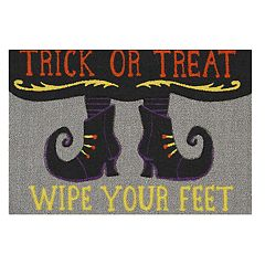 Celebrate Halloween Together Witch Feet Rug - 20'' x 30''