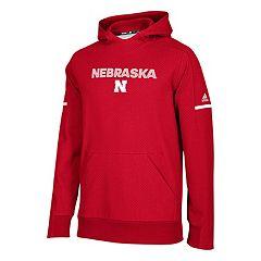 Men's adidas Nebraska Cornhuskers Squad Pull-Over Hoodie