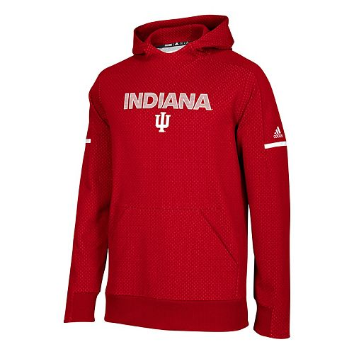 Men's adidas Indiana Hoosiers Squad Pull-Over Hoodie