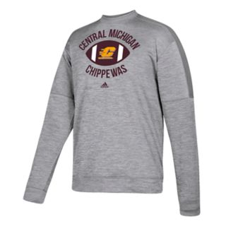 Men's adidas Central Michigan Chippewas The Gridiron Team Issue Crew Fleece Top