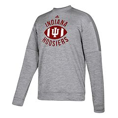 Men's adidas Indiana Hoosiers The Gridiron Team Issue Crew Fleece Top