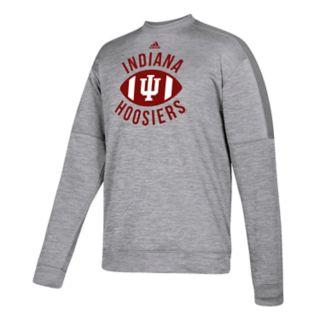 Men's adidas Indiana Hoosiers The Gridiron Team Issue Crew Fleece Top