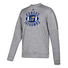 Men's adidas Kansas Jayhawks The Gridiron Team Issue Crew Fleece Top