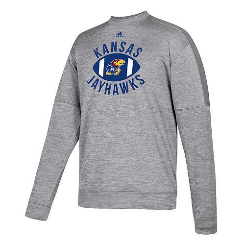 Men's adidas Kansas Jayhawks The Gridiron Team Issue Crew Fleece Top