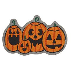 Celebrate Halloween Together Shaped Pumpkin Rug - 20'' x 30''