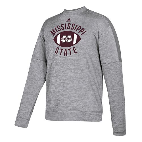Men's adidas Mississippi State Bulldogs The Gridiron Team Issue Crew Fleece Top