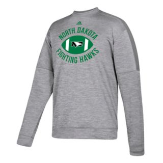Men's adidas North Dakota Fighting Hawks The Gridiron Team Issue Crew Fleece Top