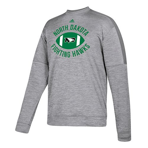 Men's adidas North Dakota Fighting Hawks The Gridiron Team Issue Crew Fleece Top