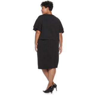 Plus Size Maya Brooke Beaded Dress & Jacket Set