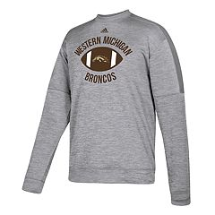 Men's adidas Western Michigan Broncos The Gridiron Team Issue Crew Fleece Top