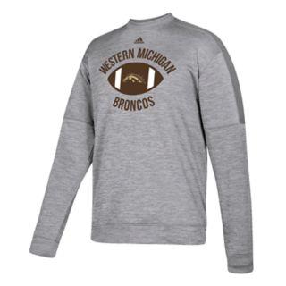 Men's adidas Western Michigan Broncos The Gridiron Team Issue Crew Fleece Top