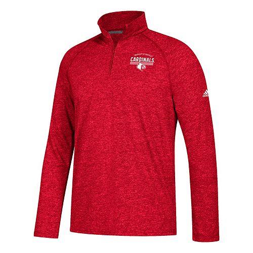 Men's adidas Louisville Cardinals Total Commitment Ultimate Quarter-Zip Top