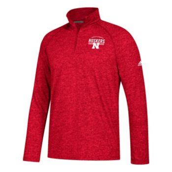Men's adidas Nebraska Cornhuskers Total Commitment Ultimate Quarter-Zip Top