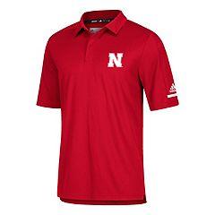 Men's adidas Nebraska Cornhuskers Team Iconic Coaches Polo