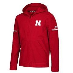 Men's adidas Nebraska Cornhuskers Squad Woven Jacket