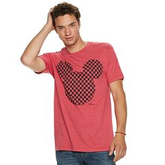 Men's Disney Mickey Mouse Checkered Head Tee