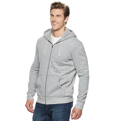 Big & Tall SONOMA Goods for Life™ Supersoft Sherpa-Lined Fleece Hoodie