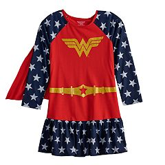 d3569e27b663b Girls 4-12 DC Comics Wonder Woman Dorm Nightgown with Cape