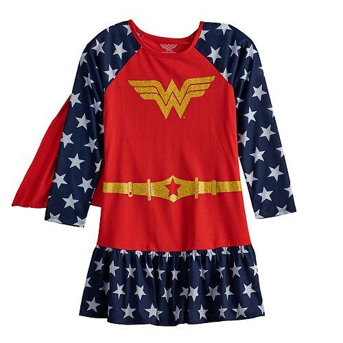Girls 4-12 DC Comics Wonder Woman Dorm Nightgown with Cape