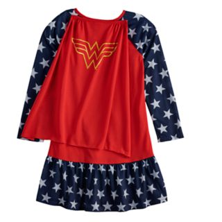 Girls 4-12 DC Comics Wonder Woman Dorm Nightgown with Cape