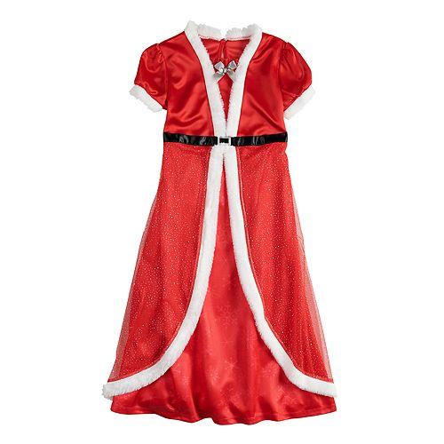 Girls 4-12 Mrs. Claus Christmas Fantasy Nightgown