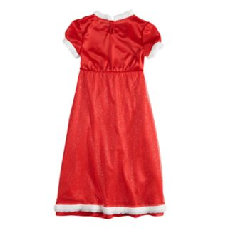 Girls 4-12 Mrs. Claus Christmas Fantasy Nightgown