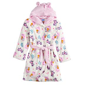 Girls 4-12 Peppa Pig Hooded Robe
