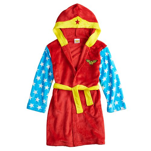 Girls 4-12 DC Comics Wonder Woman Hooded Robe