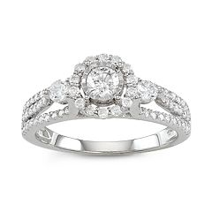 Simply Vera Vera Wang 14k White Gold 1 Carat T.W. Halo Diamond Ring