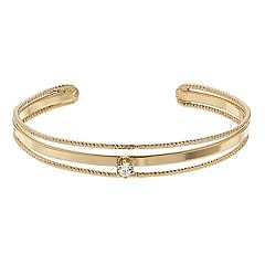 LC Lauren Conrad Simulated Crystal Multi Row Cuff Bracelet