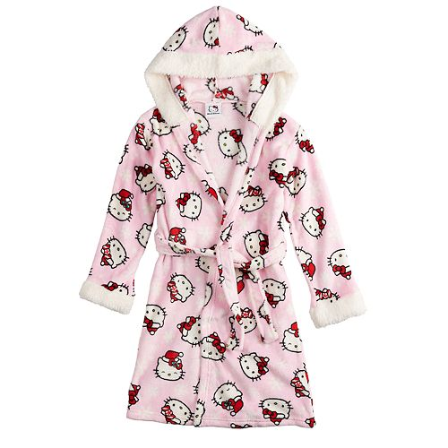 Girls 4-12 Hello Kitty® Christmas Hooded Robe