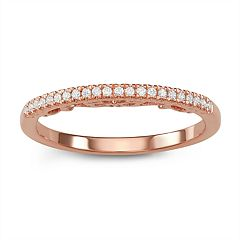 Simply Vera Vera Wang 14k Rose Gold 1/10 Carat T.W. Diamond Ring